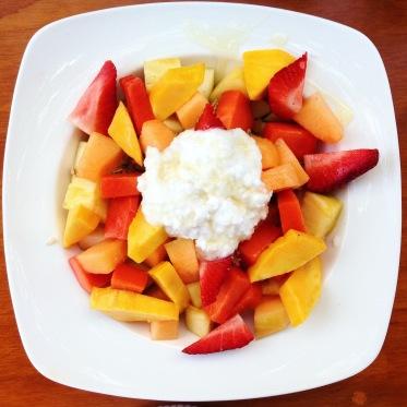 Fruit bowl with coconut yogurt